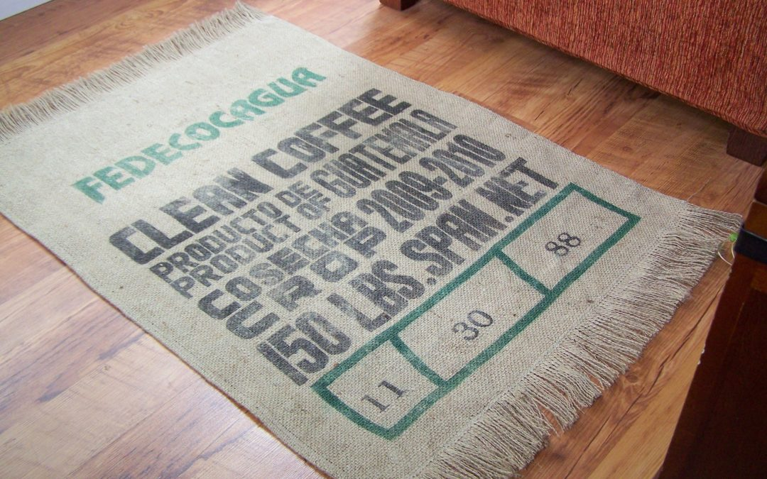 Unique Coffee Bag Rug Tutorial