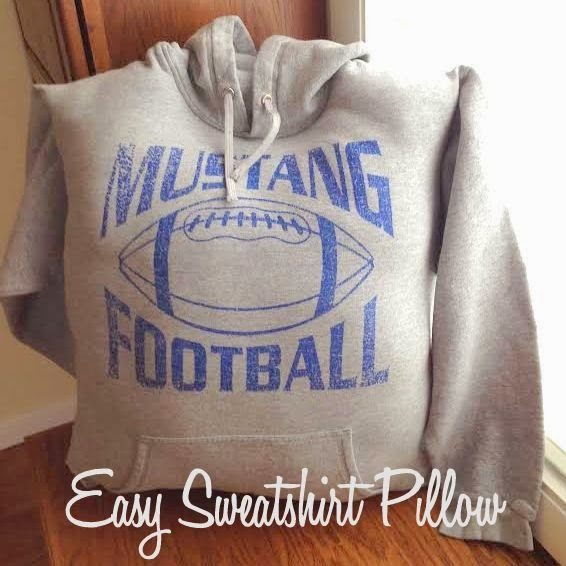 DIY Sweatshirt Pillow Tutorial