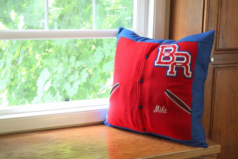 Custom Sewing Studio – Letter Jacket Pillow, T Shirt Pillow, Sea Shell Bags, Taggie Blanket