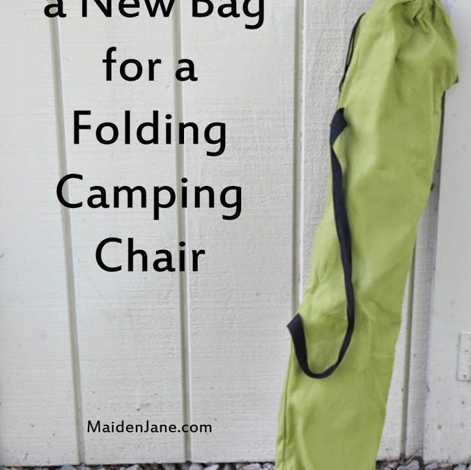 Sew a New Bag for a Folding Camping Chair – DIY – Tutorial