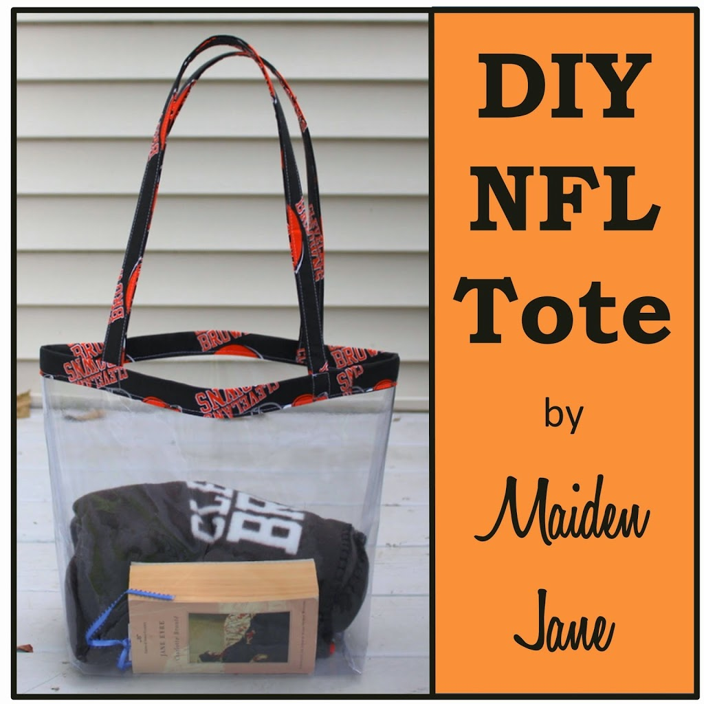 DIY NFL Clear Tote Bag | Maiden Jane