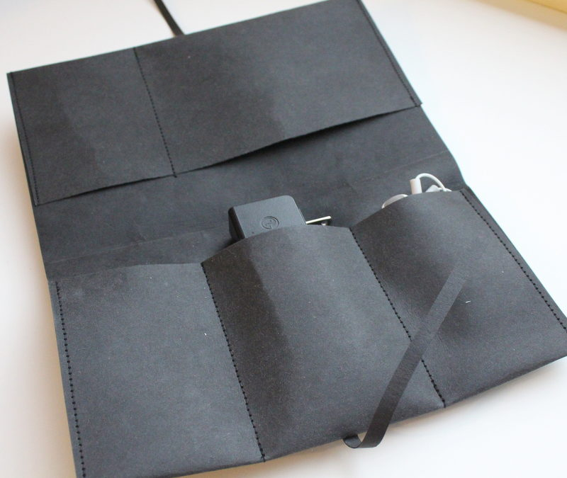A Charger Holder Made with Kraft-Tex