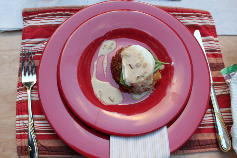 Tuscan Dinner Party Breaded Tomato Caprese
