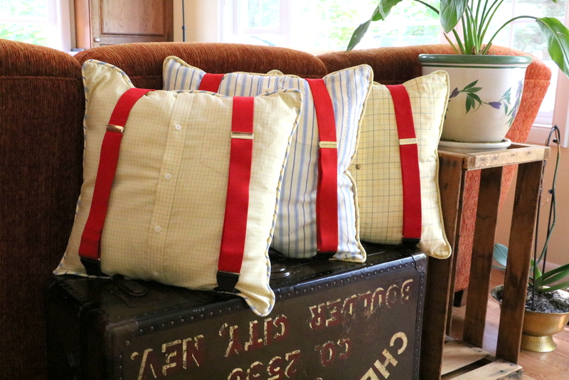 Pillow Palooza 2 – Suspenders, T Shirt, Home Dec and a Window Seat Cushion