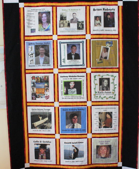 Photo Quilt for Families of Suicide Victims