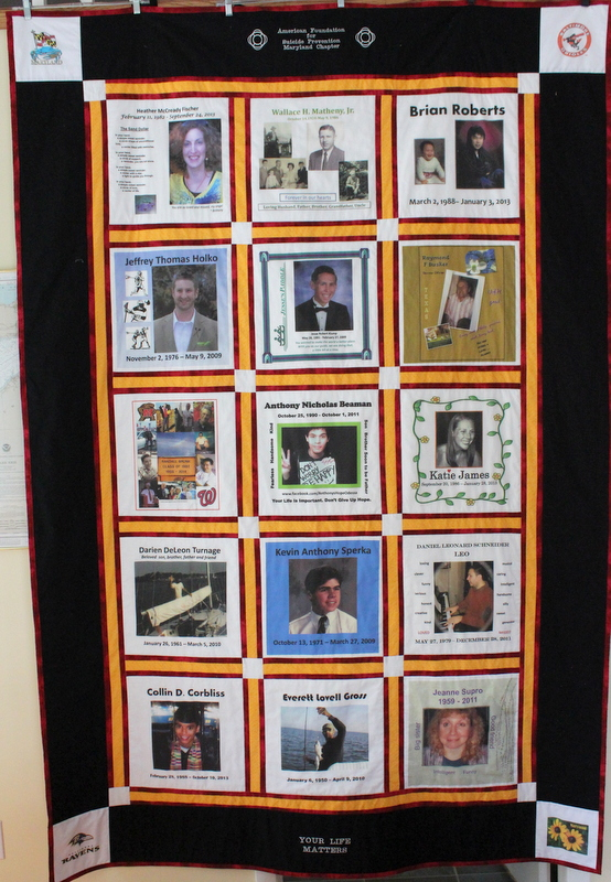 photo quilt for national foundation for suicide prevention