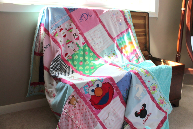 baby clothes memory blanket - gift for a wife
