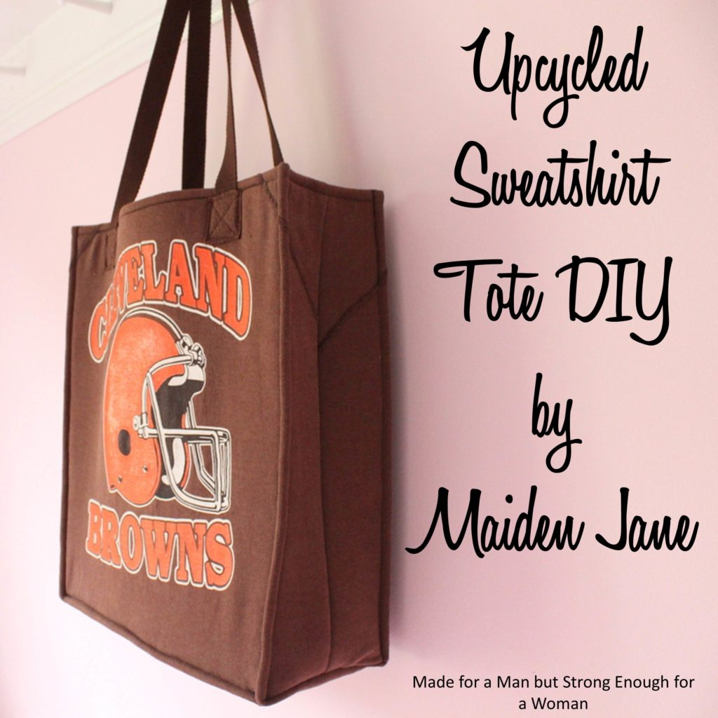 Upcycled Sweatshirt Tote