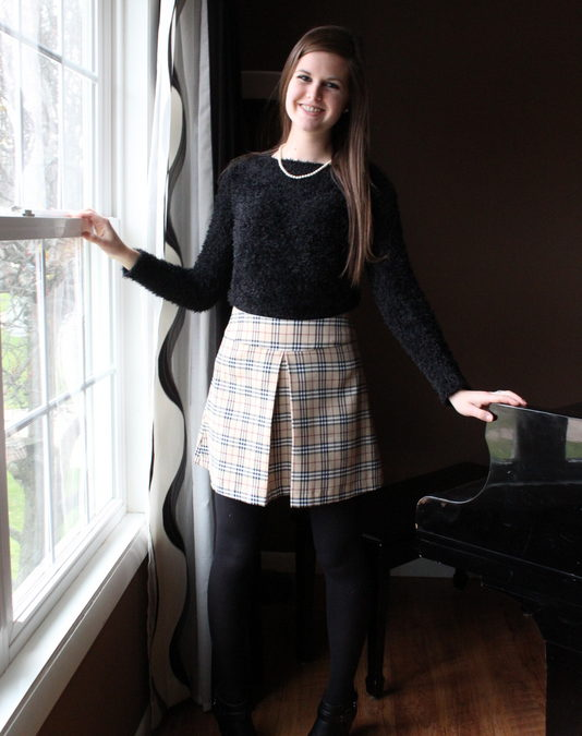 Simplicity 1109, Burberry-Inspired Skirt