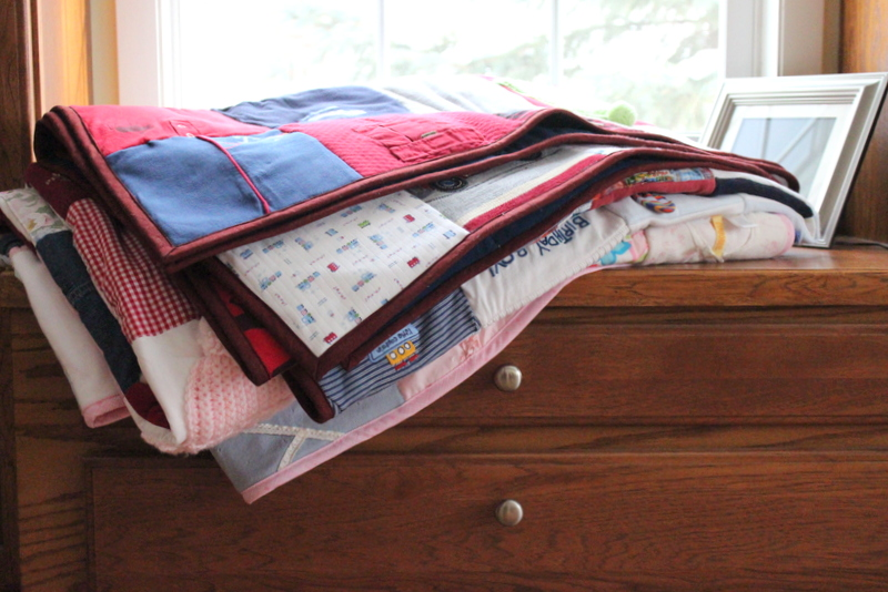 Large Baby Clothes Memory Quilt