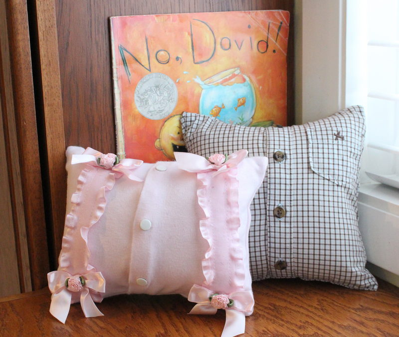 Mini Memory Pillow Made from Child Clothes