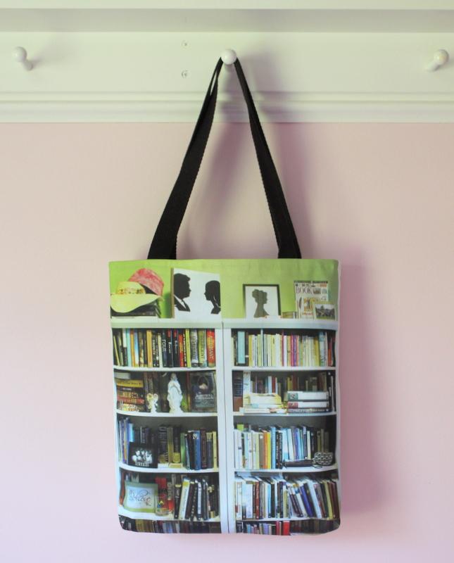 Custom Bookshelf Tote for College Graduation Gift