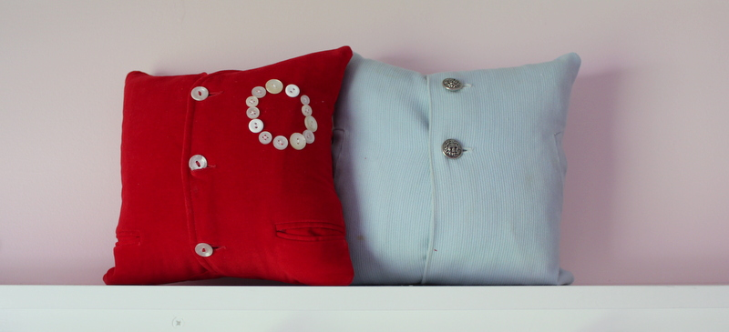Vintage clothes keepsake pillows