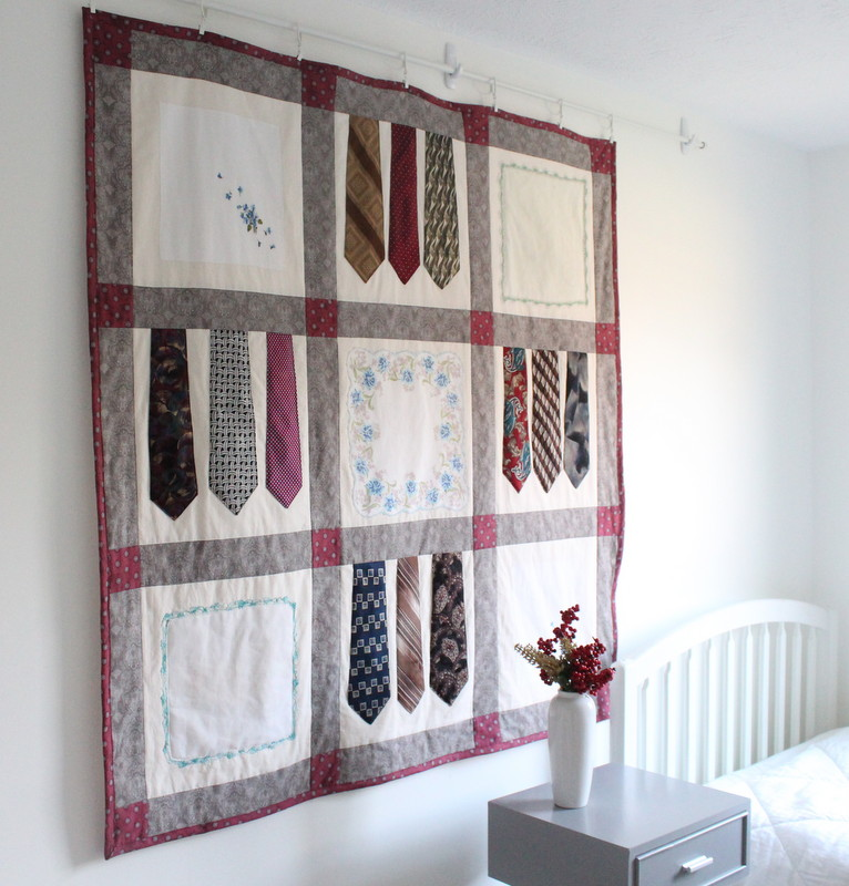 Vintage Tie and Hanky Quilt