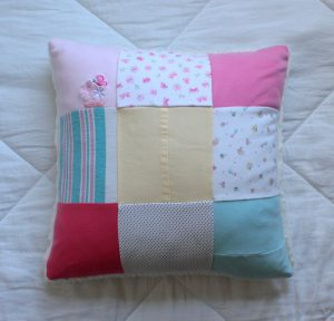 Baby Clothes Patchwork Pillow