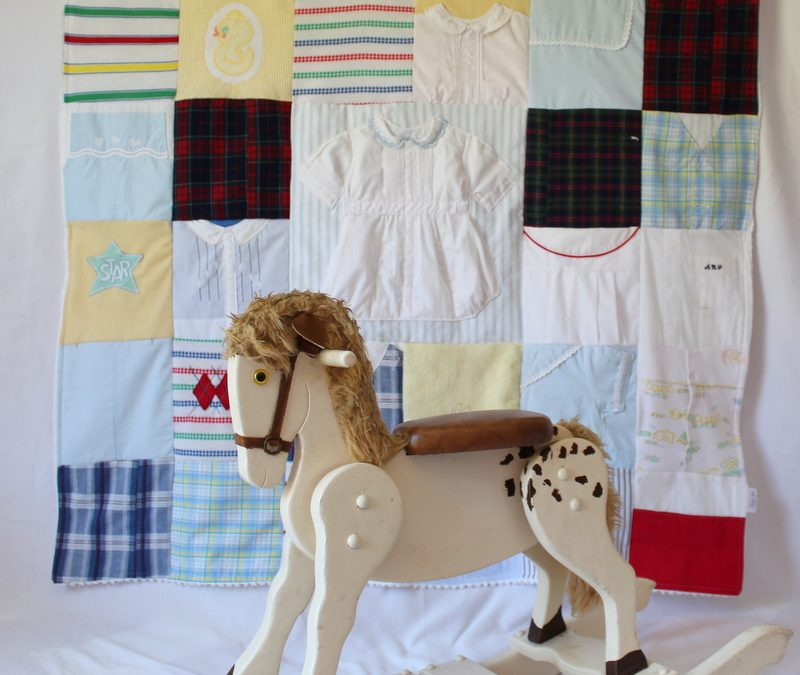 Vintage Baby Clothes Memory Quilt